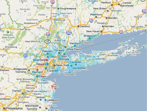 Cablevision's Wi-Fi Coverage Map