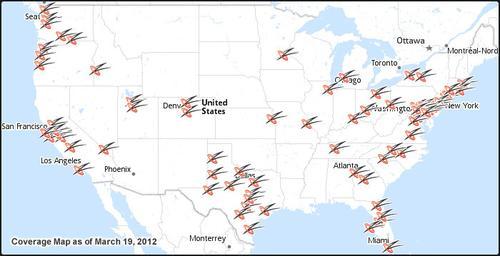 NetZero's Coverage Map