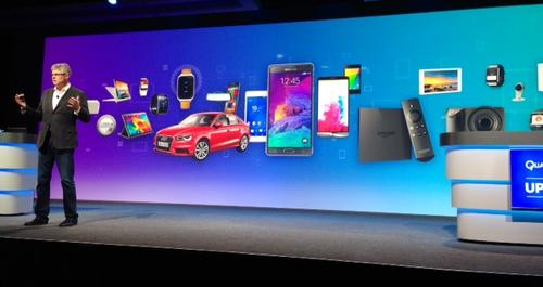 New-ish Qualcomm CEO Steve Mollenkopf talks up all the devices that the chipmaker is or will be powering, including everything from cars to watches to adorable little robots.