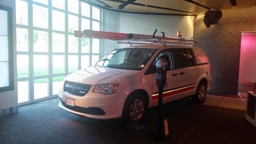 A Verizon fleet car with Hughes Telematics on board.