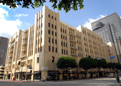 Digital Realty's downtown Los Angeles facility looks like the exterior of a police station in an 80s cop movie.