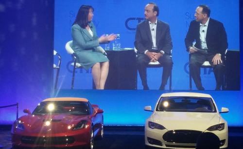 GM's Mary Chan & AT&T's Ralph de la Vega and Glenn Lurie chat about connected cars in the day 2 morning keynote.