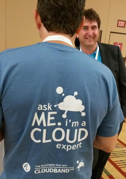 Quite literally this is Dor Skuler's back, as seen at this year's Big Telecom Event (BTE) in Chicago. Deutsche Telekom's SDN guru Axel Clauberg appears to prefer his view.