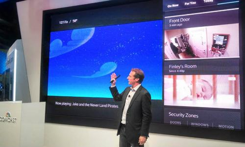 Comcast SVP Charlie Herrin demos Xfinity Home at the Cable Show.