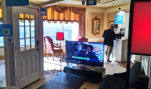Zonoff's smart home demo suite at CES 2015
