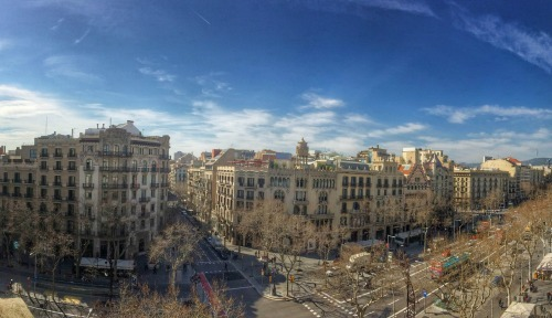 The view from LRTV Producer Will Allen's room. Nothing says Barcelona like Gaudi's home in the distance.