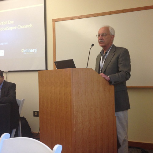 Infinera's Gaylord Hart addresses NGCTS breakfast.