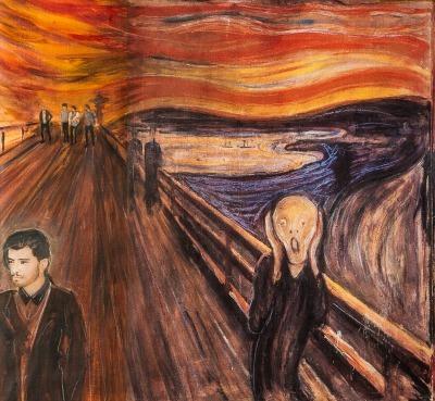 Edvard Munch's 'The Scream', re-imagined by Paul Karslake for O2.