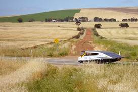 Solar Team Eindhoven's winning entry in the inaugural   Cruiser Class of the World Solar Challenge in 2013.