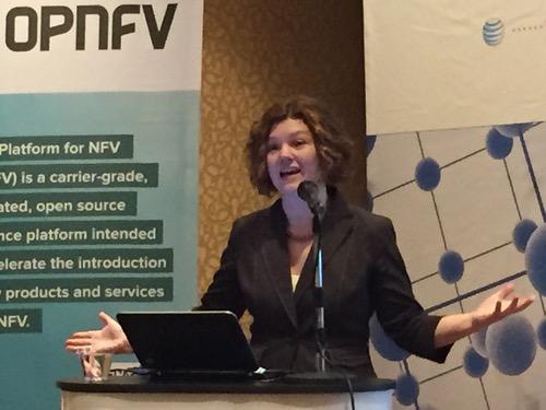 OPNFV Director Heather Kirksey speaks at NFV World Congress.