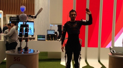 SK Telecom's 5G Robot debuted at Mobile World Congress in February, showcasing how it will be able to move in real-time to reflect human movements through a 5G-enabled connected network, demonstrating ultra-low latency - a key feature of 5G.