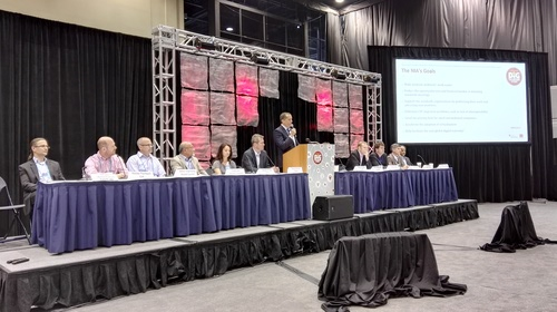 Light Reading's Steve Saunders tells the industry about the NIA during the inaugural meeting at BTE.