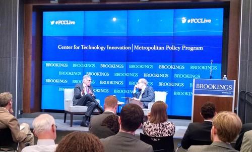 FCC Chairman Tom Wheeler and national broadband plan architect Blair Levin discuss broadband policy.