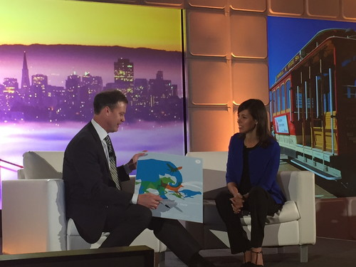 Incompas CEO and President Chip Pickering presents FCC Commissioner Jessica Rosenworcel with a picture to sign, representing the new age of competition. The Democrat immediately noticed that the dominant animal in the pack was an blue elephant, which prompted laughter from the crowd. Pickering is a Republican and former member of Congress.