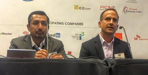 SK Telecom's Ashish Singh and Intel's Bob Ghaffari (l-r)