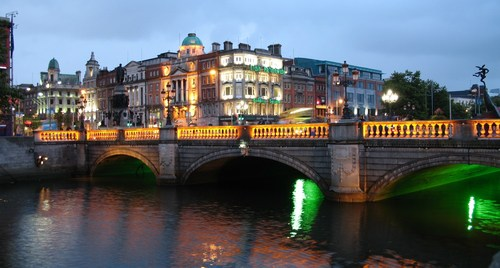 The Irish capital of Dublin, home to one of enet's wholesale metro fiber networks.