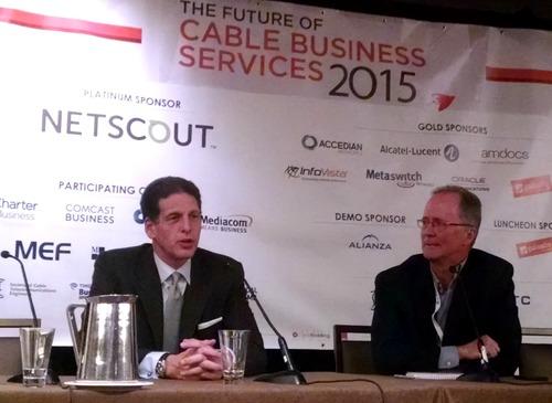 Financial analyst Craig Moffett with Heavy Reading analyst Craig Leddy