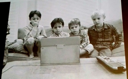 The new holiday reality. These family members of an Adobe executive spent Thanksgiving gathered around the iPad.