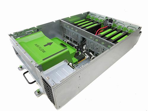 Open Rack V2 compatible 8-GPU server. (Photo source: Facebook.)