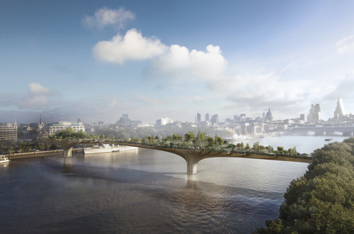 River row: An artist's impression of the controversial Garden Bridge. (Photo: Arup)