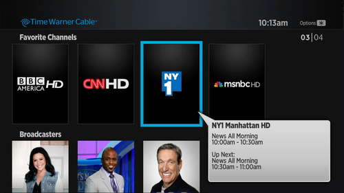 Time Warner Cable app for the Roku