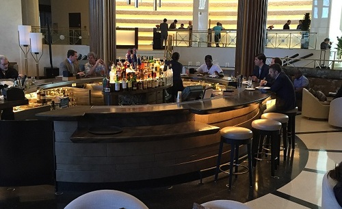 Eden Roc's famous circular bar, just before Metro Connect kicks off.