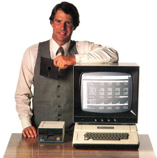 A VisiCalc user with an Apple II. Accountants feared VisiCalc, the first spreadsheet software, would take their jobs. (Photo: Dave Winer, CC BY-SA 2.0)