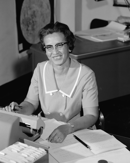 People like Katherine Johnson, a NASA employee shown here in 1966, worked as 'computers' for centuries. Johnson later worked as a physicist and mathematician. She's a character in the 2016 movie Hidden Figures.