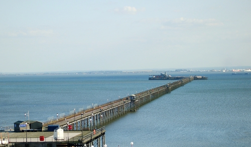 Southend Pier: On a clear day you can see Canvey Island.