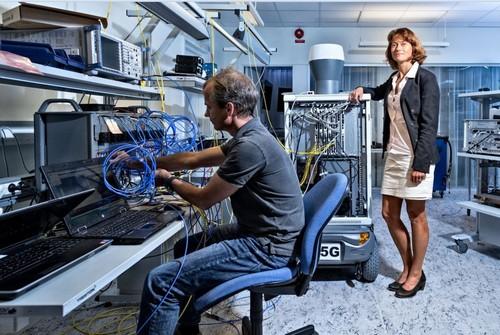 Sara Mazur, head of Ericsson Research, in the vendor's 5G Lab.
