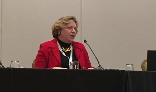 McCorcle, the president of AT&T Partner Solutions, speaks on an ITW panel Monday on Advancing Women in Telco.