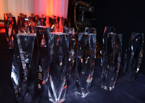The 2016 Leading Light awards sparkle as they wait to be claimed by their rightful owners.