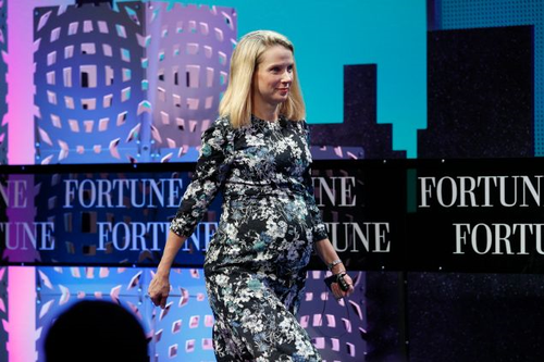 A very pregnant Marissa Mayer took the stage at last year's Fortune Global Forum. She spoke about how she wouldn't be taking time off throughout her pregnancy and would return to work shortly after giving birth instead of taking a maternity leave.