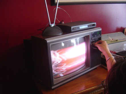 Today, you can still watch TV like this... if you really want to.