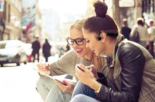 I wonder whether these women also appear in any stock photos of women laughing  alone with salad.
