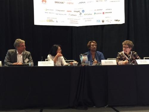Panelists in Denver from left: Doug Tait, Oracle Communications; Margaret Chiosi; Roz Roseboro, Heavy Reading; Carol Wilson, Light Reading.