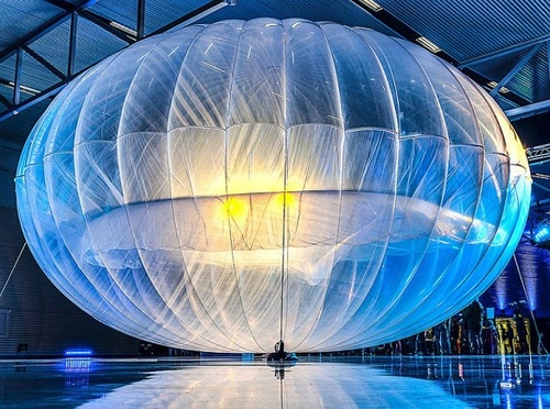 A Project Loon balloon when Alphabet launched the project in 2014. Source: Alphabet