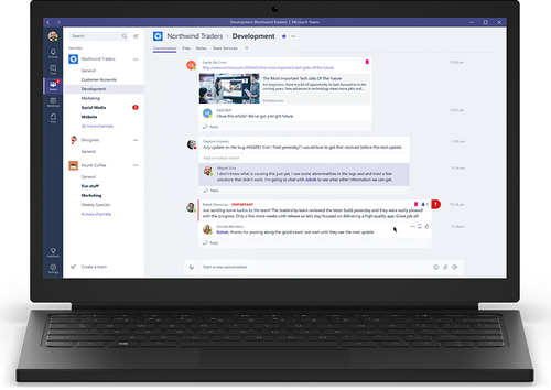 Realtime threaded discussions are at the heart of Microsoft Teams (and Slack).