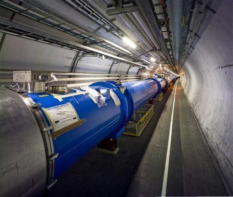 When particles collide...  (Source: CERN)