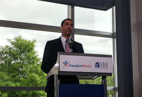 FCC Chairman Ajit Pai delivers his proposal to roll back Internet regulations put in place with the 2015 Open Internet Order.