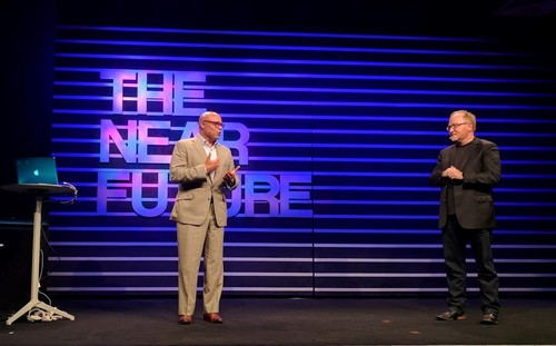 Michael Powell, CEO of the NCTA, and Phil McKinney, CEO of CableLabs, co-hosted The Near Future event.