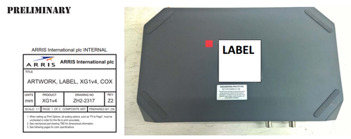 Images from an FCC filing for the Arris XG1v4