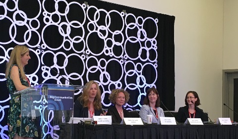 Women in Comms' Sarah Thomas listens on as Boingo's Dawn Callahan, BT in the Americas' Kate Kuehn, Verizon's Heidi Hemmer and Sprint's Nelly Pitocco offer up the service provider point of view.