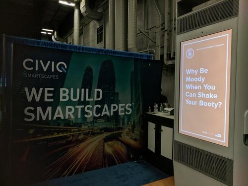 Civiq Smartscapes demoed its second-generation Link kiosk.