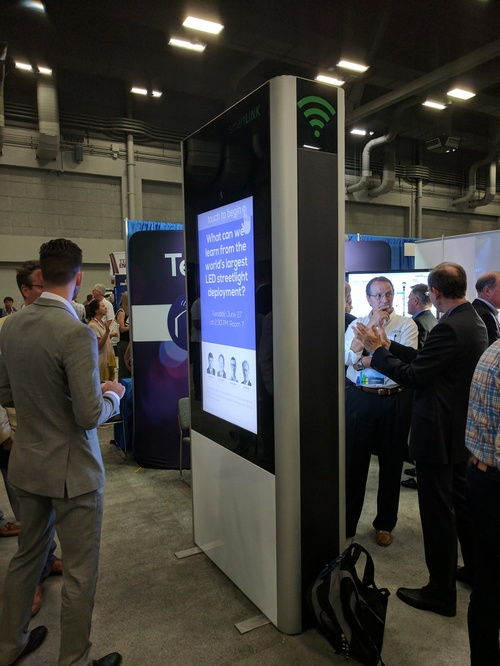 Smartlink's digital kiosk was one of many at the Smart Cities Connect conference.