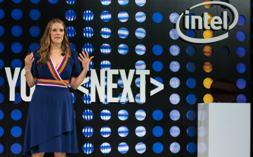 Lisa Spelman at the Xeon Scalable launch in New York. (Source: Intel)
