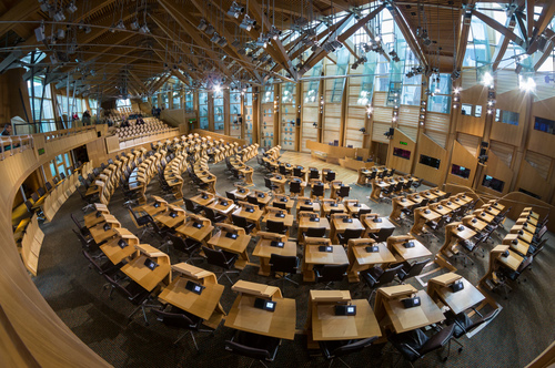 Under attack: the Scottish parliament building at Holyrood