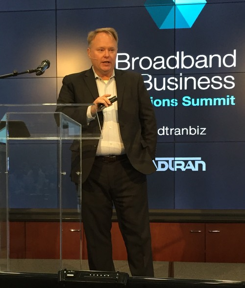 RCBG President William Markey, speaking this week at Adtran Connect.