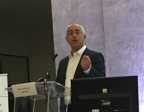 David Amzallag, speaking at Light Reading's 2016 OSS event in London.
