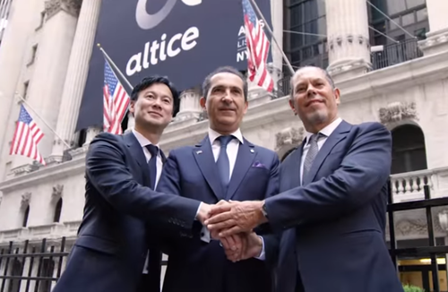 Screenshot from the day of the Altice USA IPO